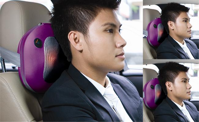 Sử dụng gối massage khi lái xe