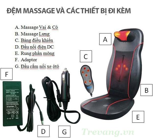Đệm massage Shoohan liền mảnh