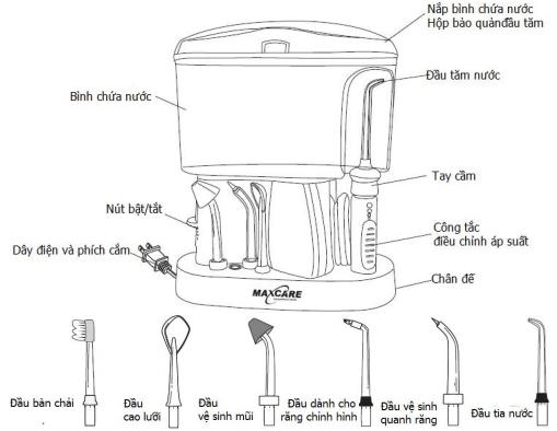Máy tăm nước Maxcare-456L