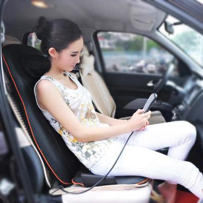 Đệm massage Shachu rất tiện lợi dùng khi lái xe ô tô