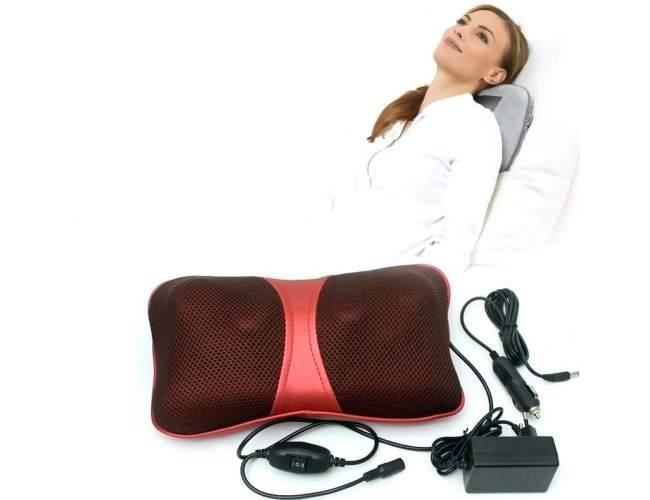 Gối massage Holtashi pl-818 dùng massage vùng cổ vai gáy