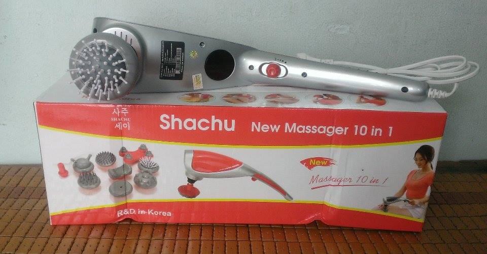 máy massage 10 đầu Shachu hàn Quốc