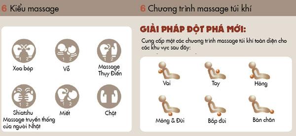Ghế massage max-618 có rất nhiều chức năng