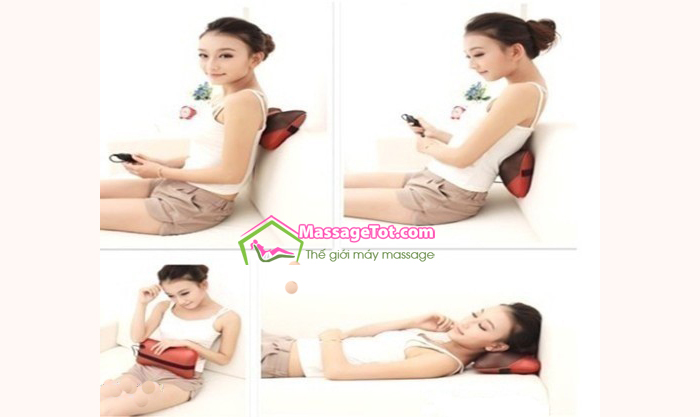Sử dụng gối massage