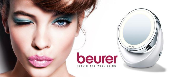 Gương trang điểm 2 mặt kèm đèn led Beurer BS49